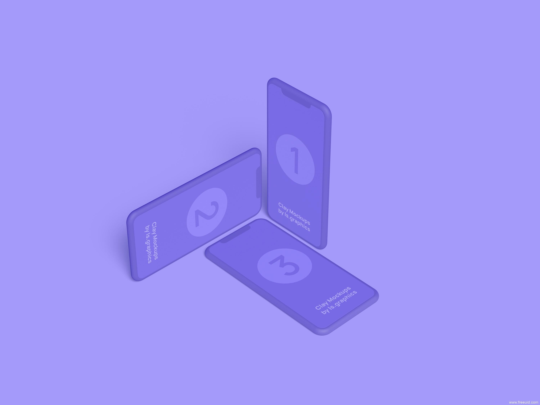 简洁3d iPhone样机模板UI源文件下载,样机模板pxd源文件
