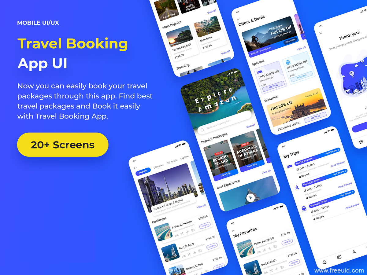 一套旅游APP UI素材下载,旅游酒店应用UI源文件,酒旅UI资源psd源文件