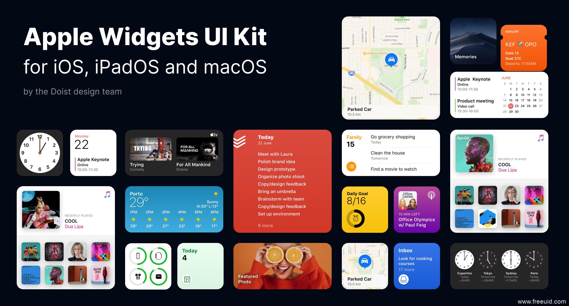 最新iOS 14 UI kit组件UI资源下载,最新iOS 14 UI源文件,UI素材figma源文件下载