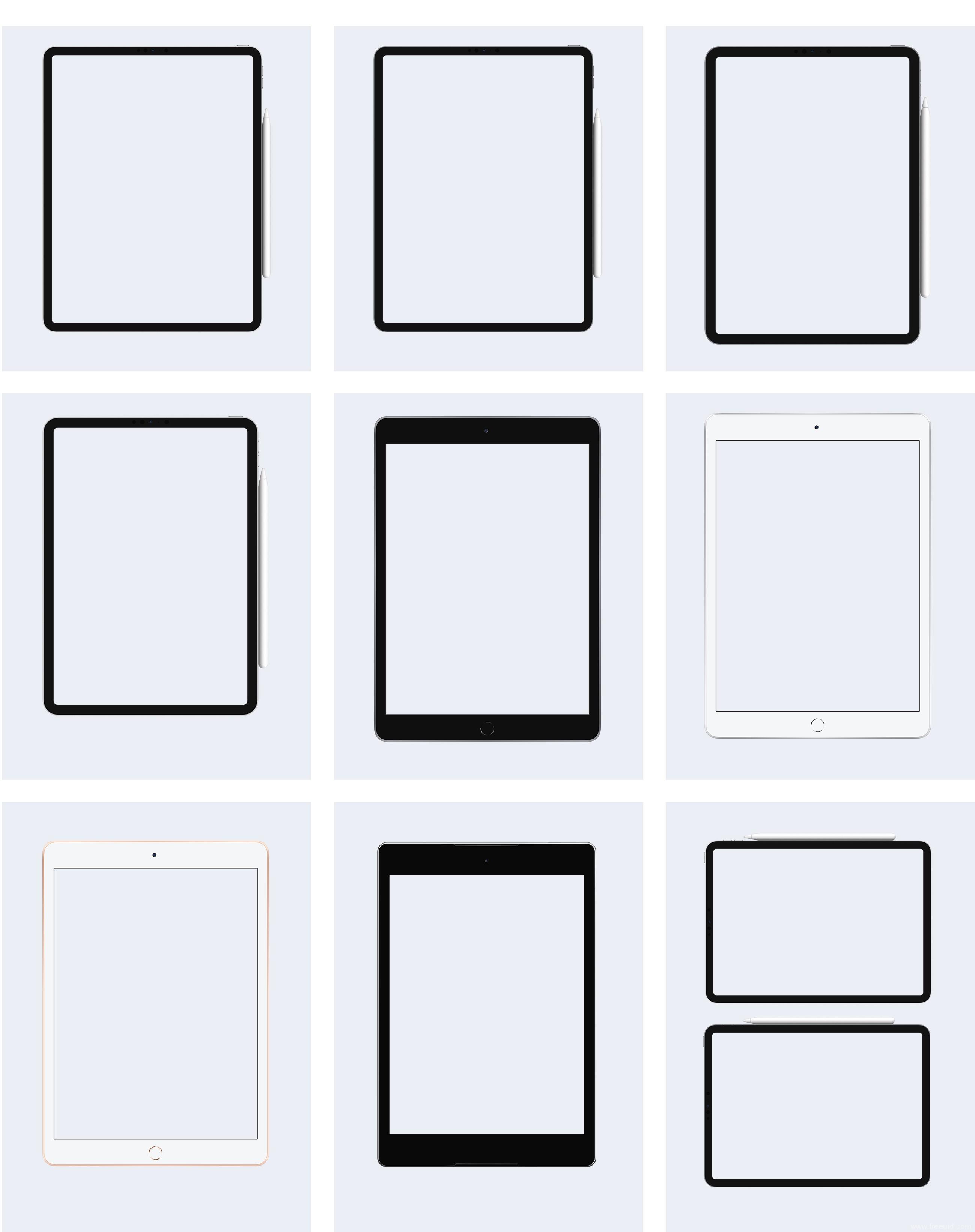 超全(Apple ipad+Microsoft+Nexus)平板电脑样机展示sketch源文件下载