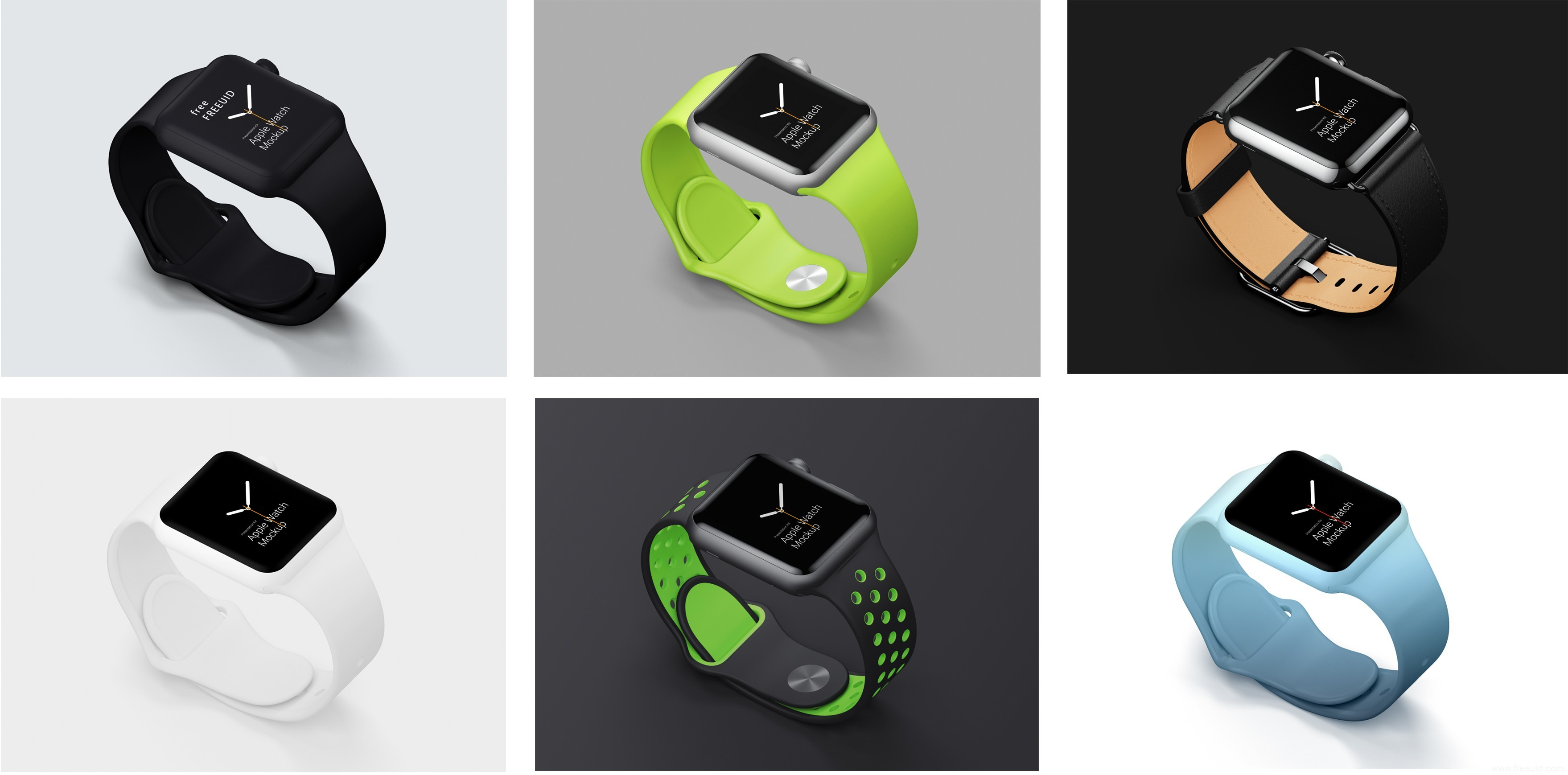 Apple Watch手表样机模板展示psd、sketch源文件下载