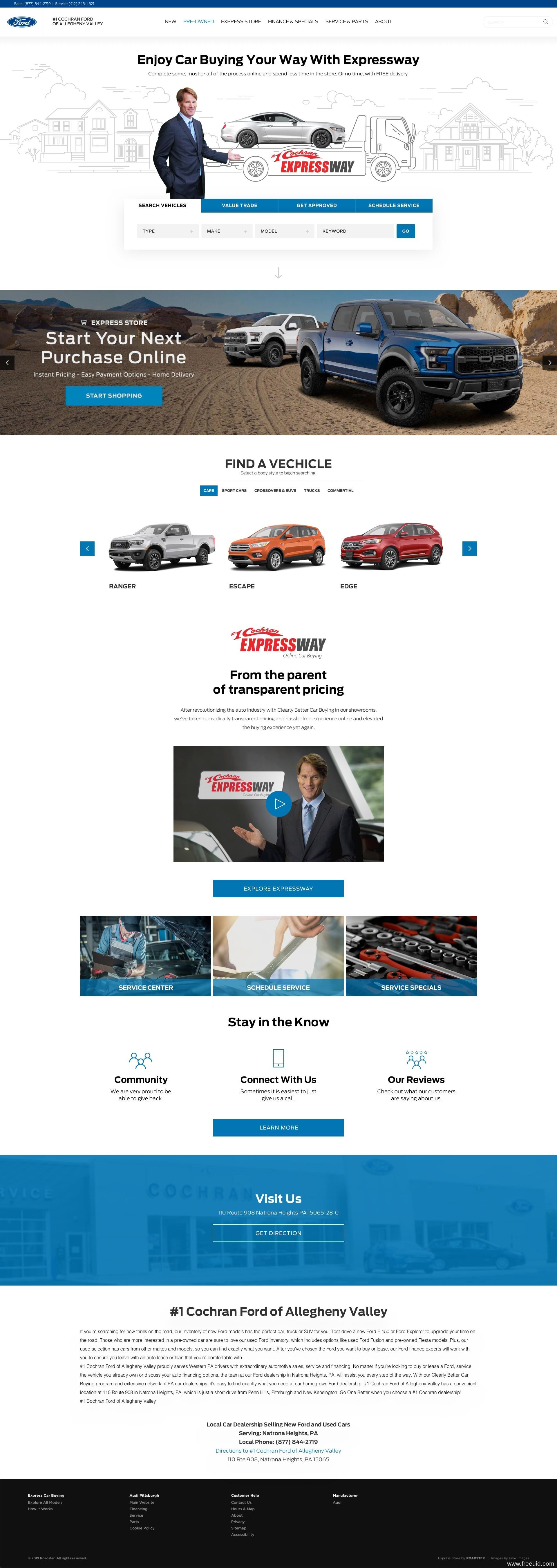高端汽车应用UI、Web UI、汽车企业官网界面sketch源文件下载