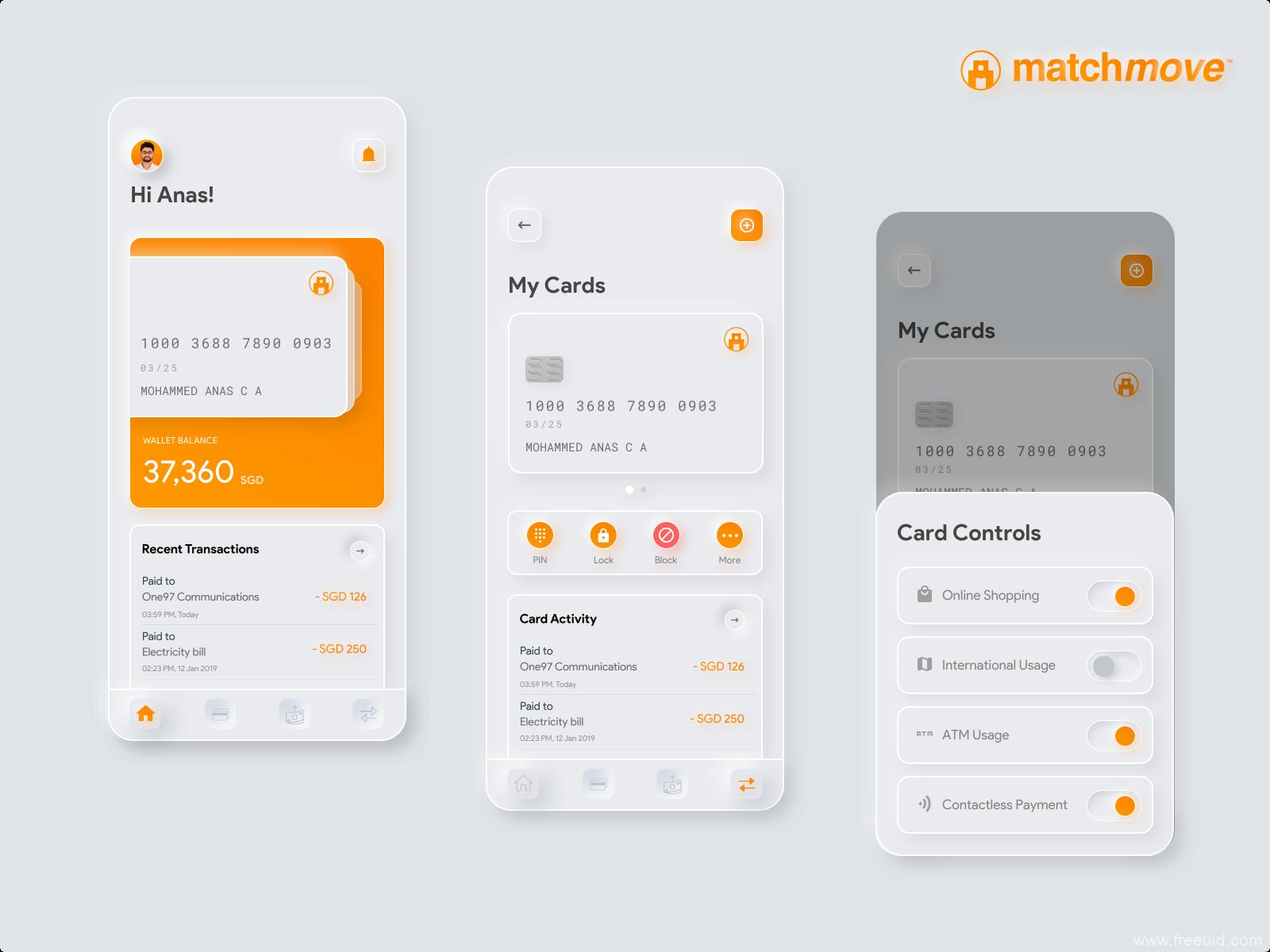 免费新拟物轻质感Neumorphic风格金融app ui素材,新拟物UI源文件 .sketch素材下载