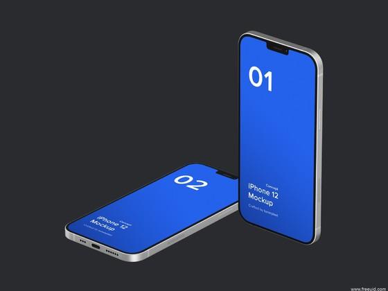 21款iPhone 12样机模板下载,iPhone 12 pro mockup样机模板psd源文件下载