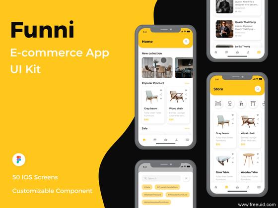 最新整套家具电商APP UI源文件下载,家具电商app UI素材下载,figma源文件下载