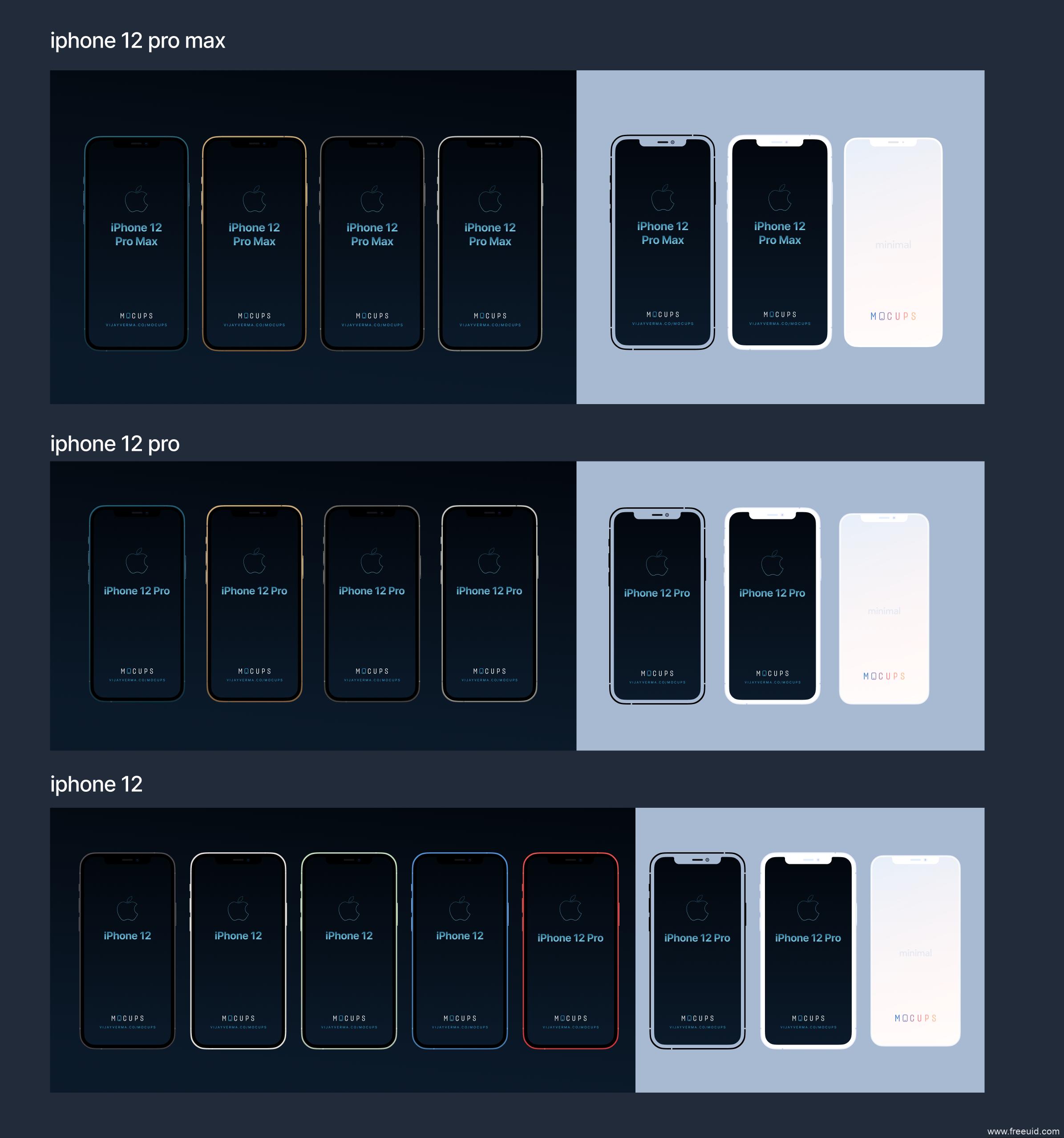 iphone 12全系样机mockup样机下载,iPhone12 pro max样机模板源文件,iPhone 12样机figma源文件下载