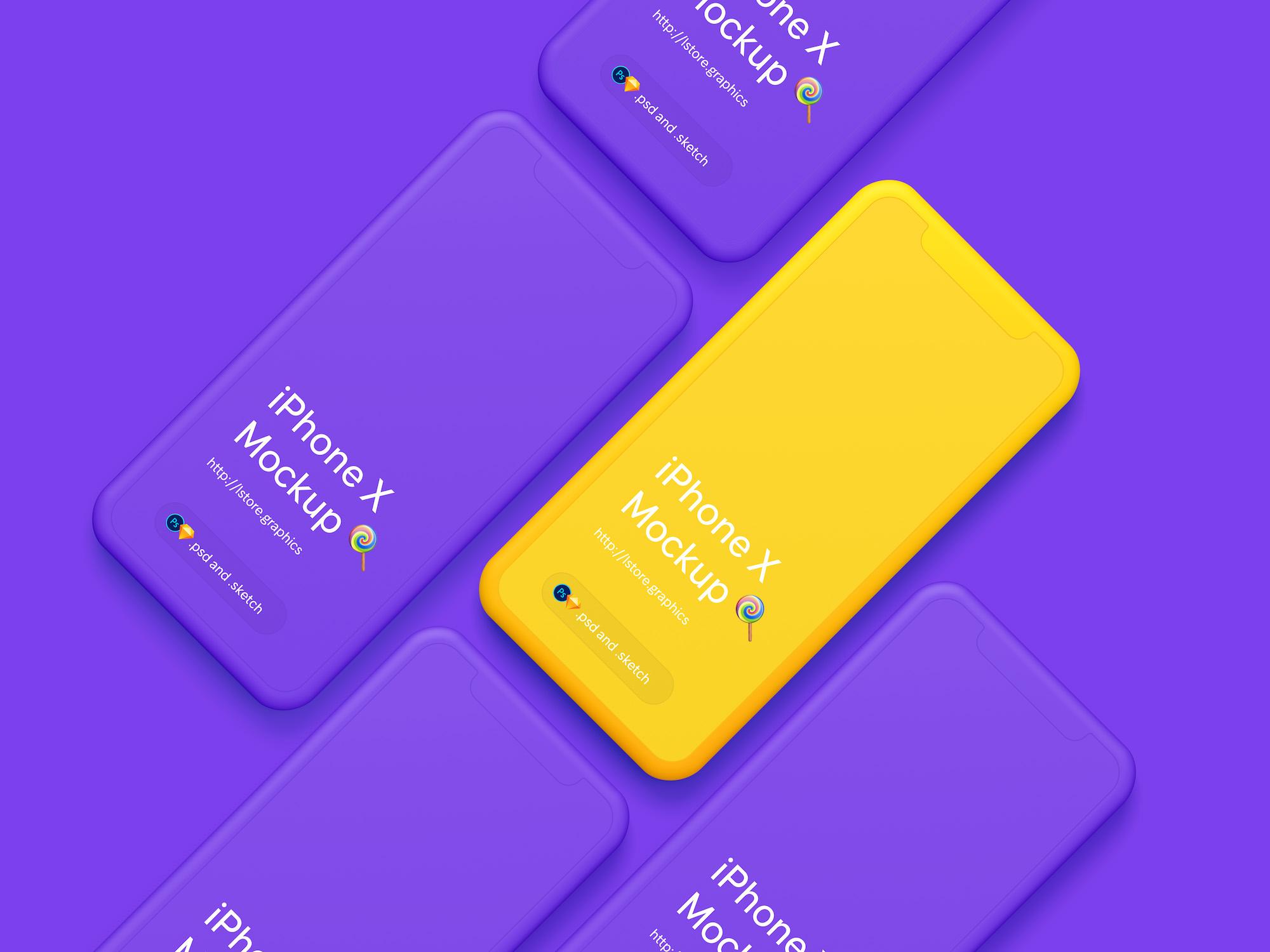 Simple iPhone X Mockups