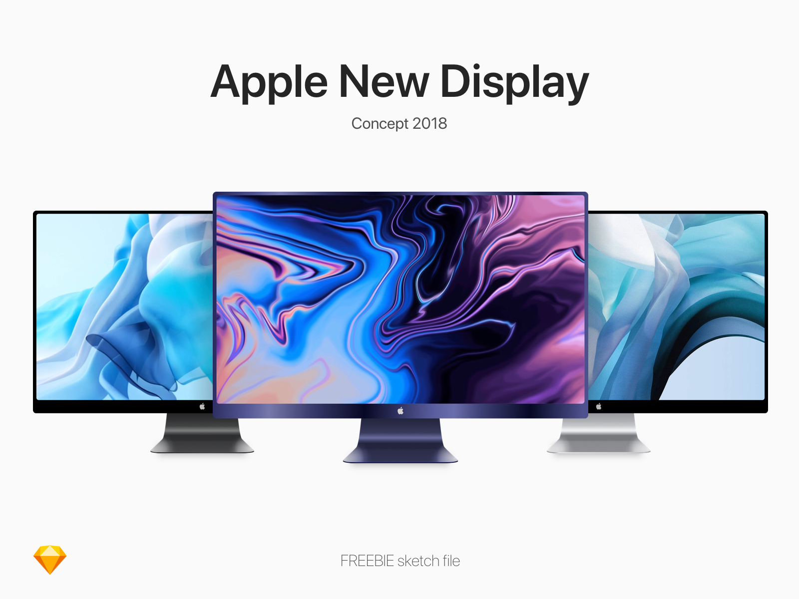 iMac展示模板,sketch源文件
