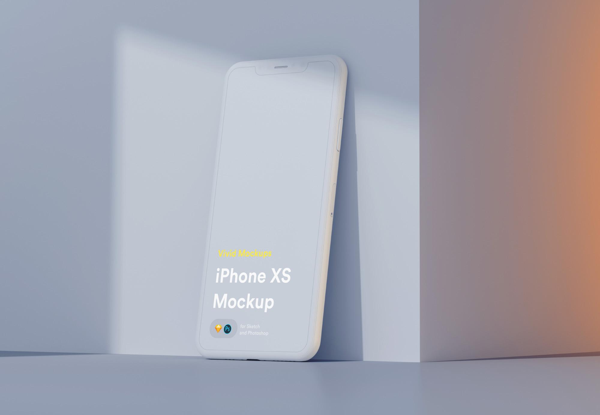 iPhone XS手机模板sketch+psd源文件