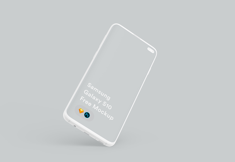三星Galaxy S10手机模板,sketch+psd源文件
