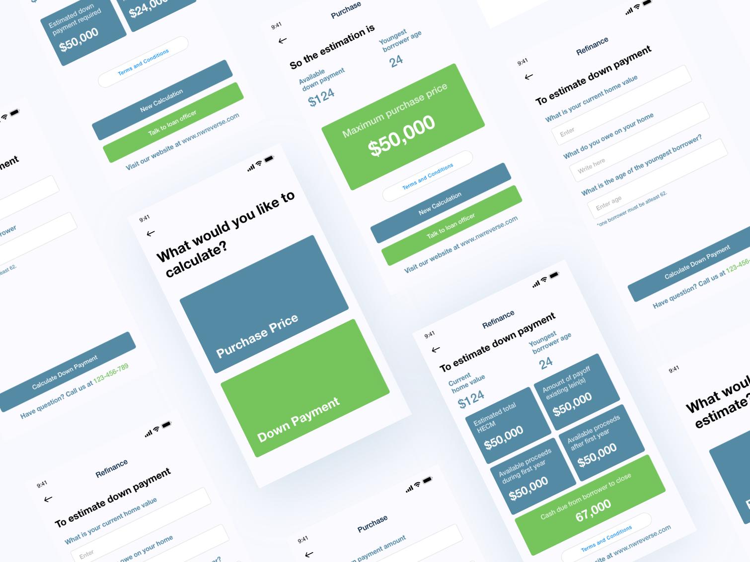 金融类app 基础UI组件模板 .xd素材下载