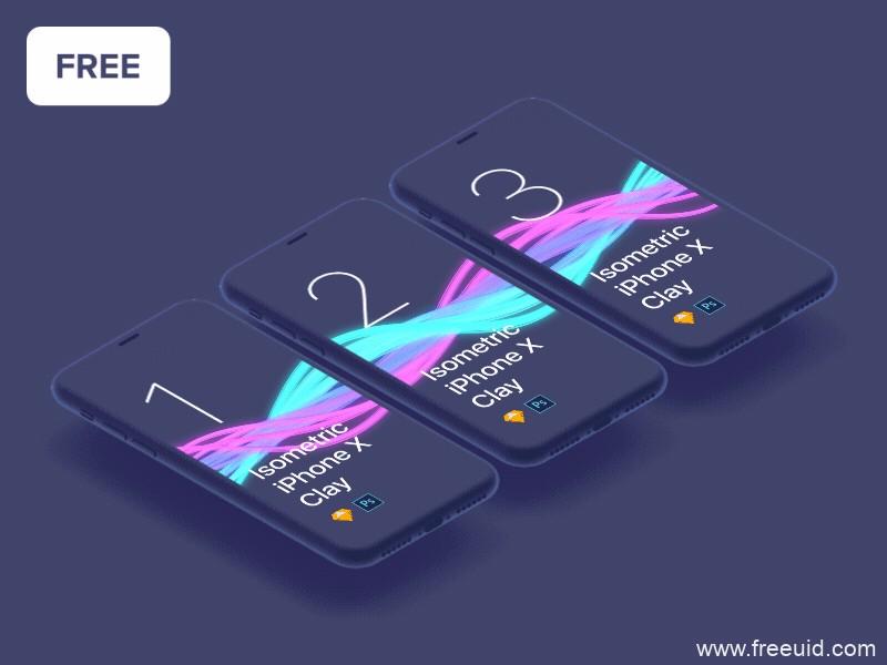 iphone x 透视效果mockup .psd下载