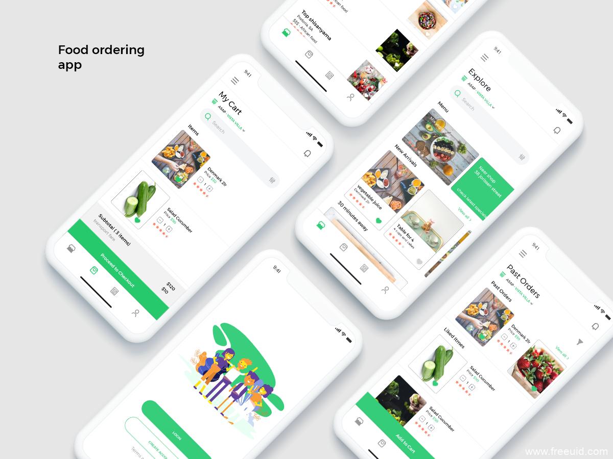 社区团购app,买菜app,生鲜、外卖、点餐类APP UI模板下载,XD源文件
