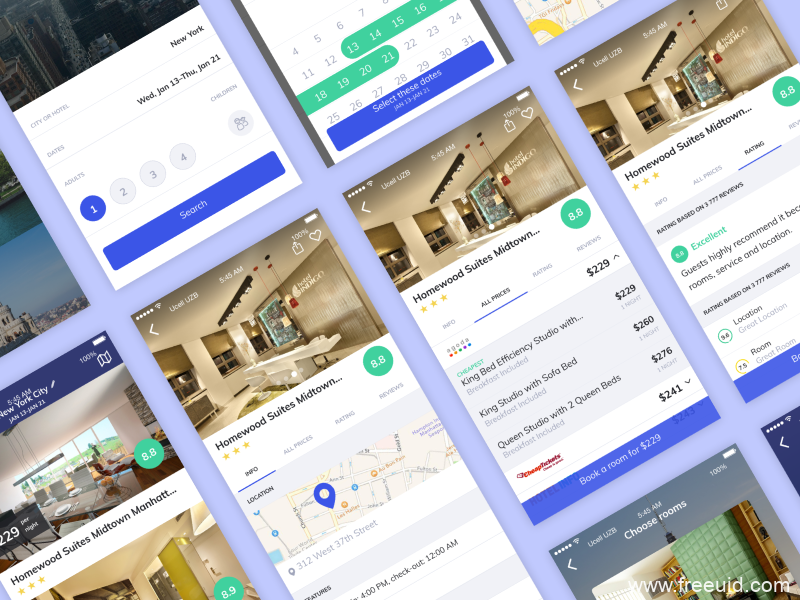 旅游类app模板源文件,UI素材下载,sketch源文件