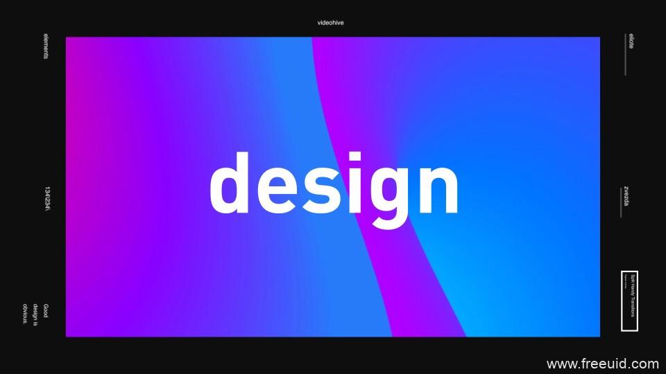文字快闪类时尚颜色爆炸-视觉类AE模板