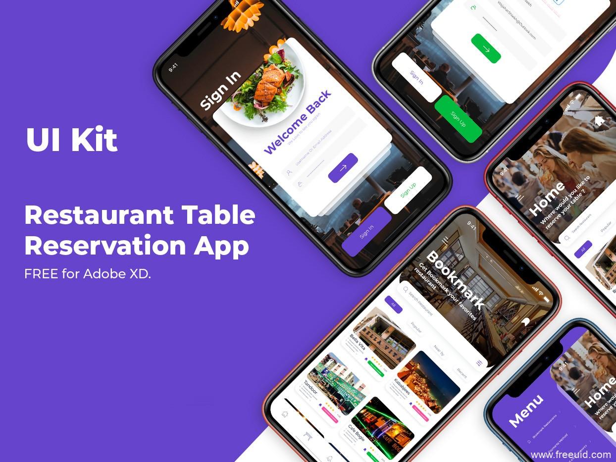 餐厅/餐馆类UI整套源文件,UI素材下载,xd源文件