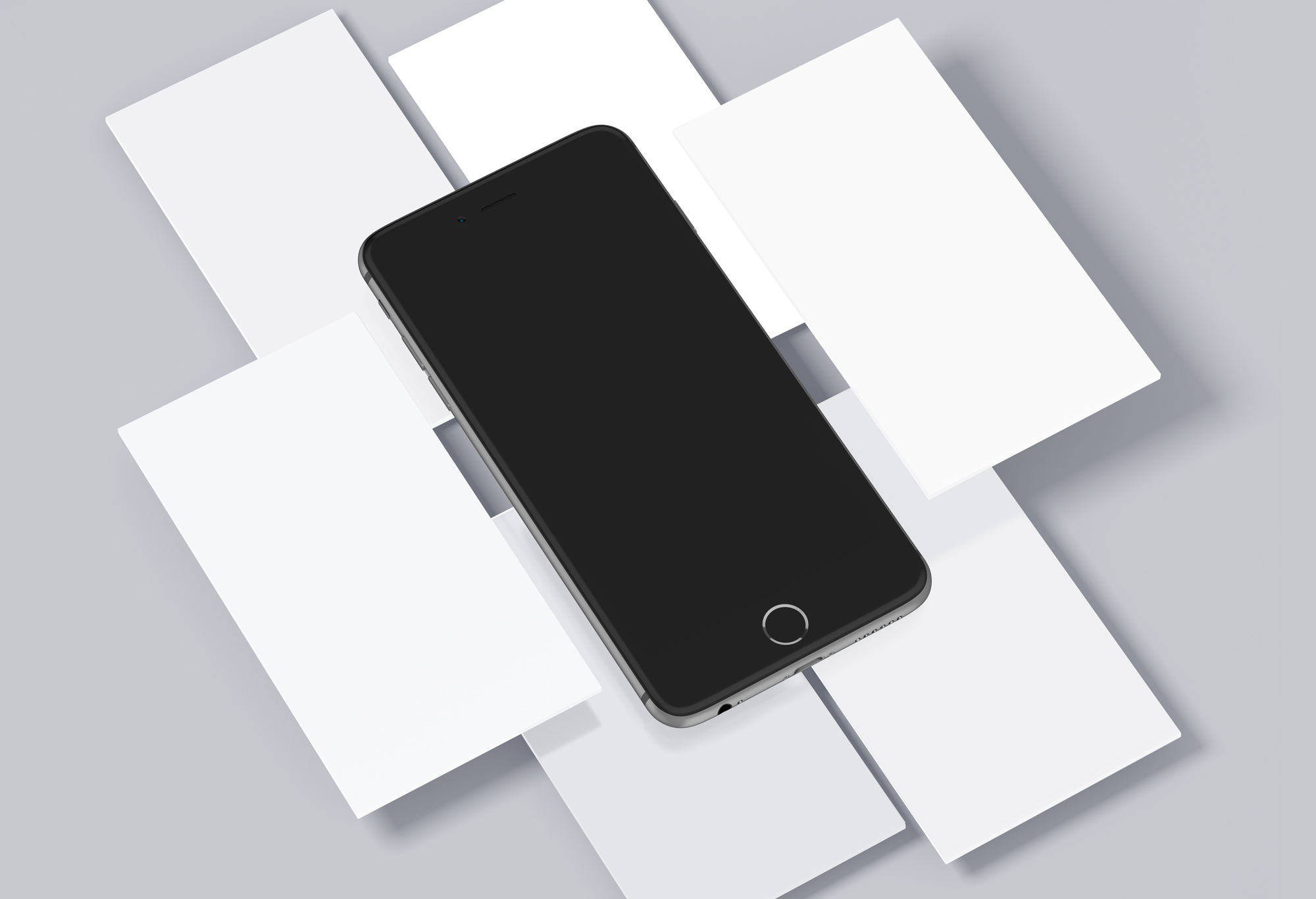 iPhone & 手机界面展示模板,Mobile Mockups