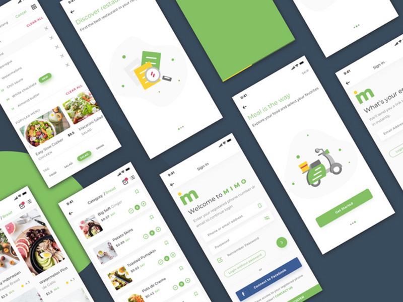 买菜app,社区团购UI超全完整生鲜美食类APP界面UIkit.sketch模板下载