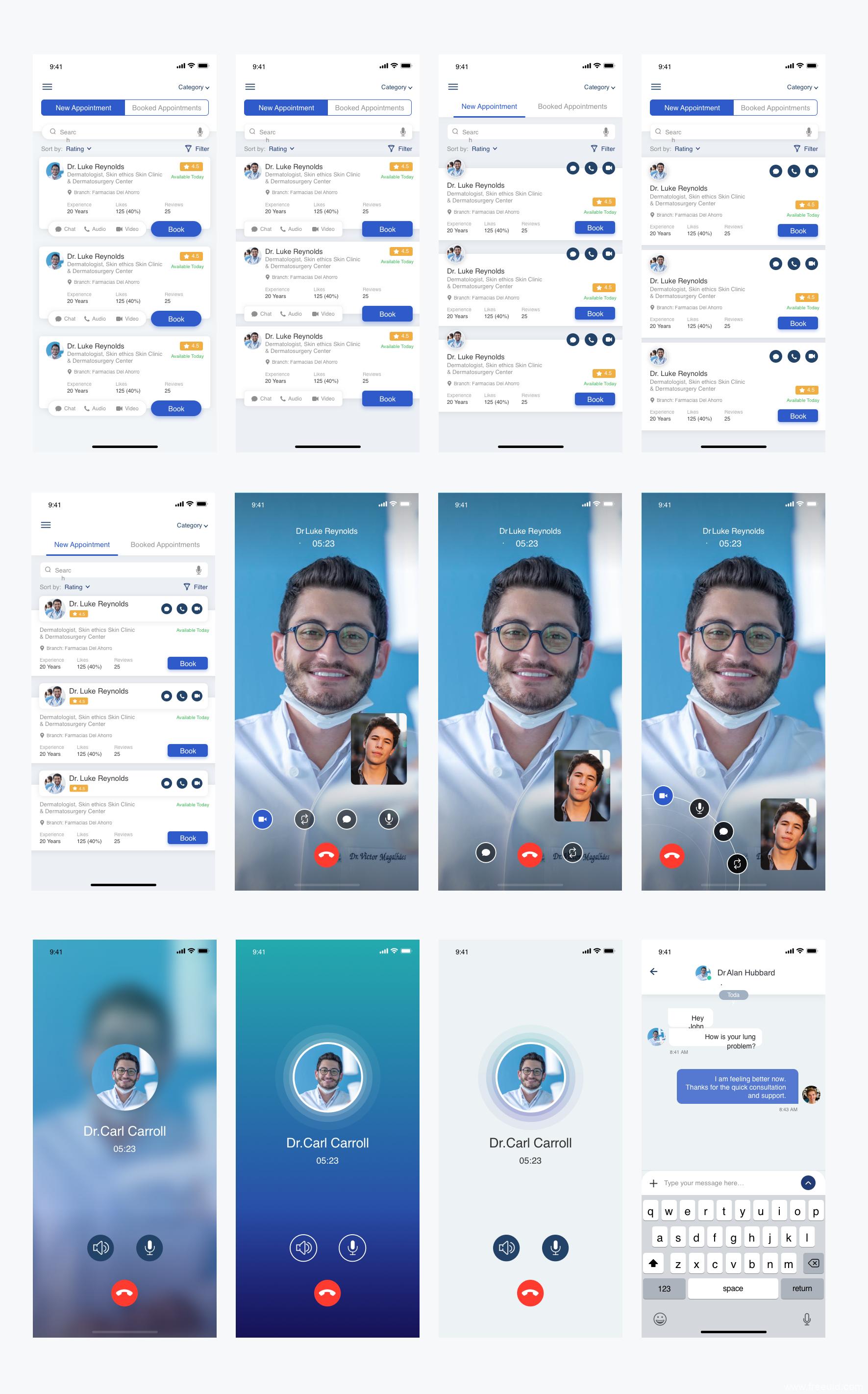 全套健康医疗app UI KIT下载.sketch源文件下载,UI资源下载