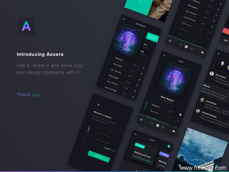 暗色系音乐类App整套UI模板,UI素材下载,sketch源文件,dark mode