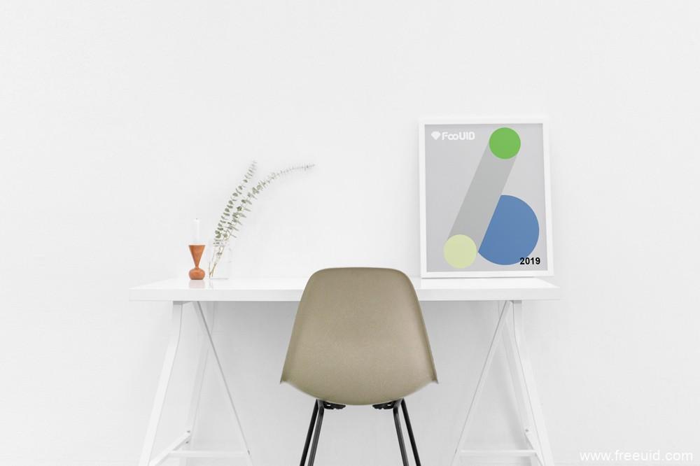 温馨办公场景海报展示模板,个人照片展示模板,海报psd展示源文件