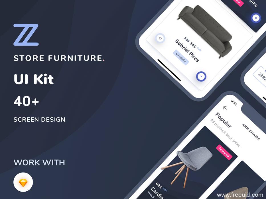电商app,家居电商类高端app UIkit源文件,UI资源下载,UI界面设计源文件