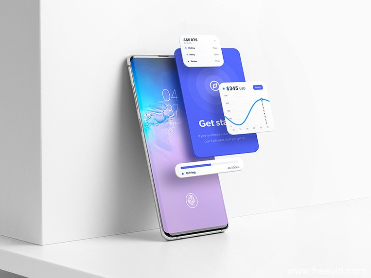 Samsung Galaxy S10 mockup .psd素材下载