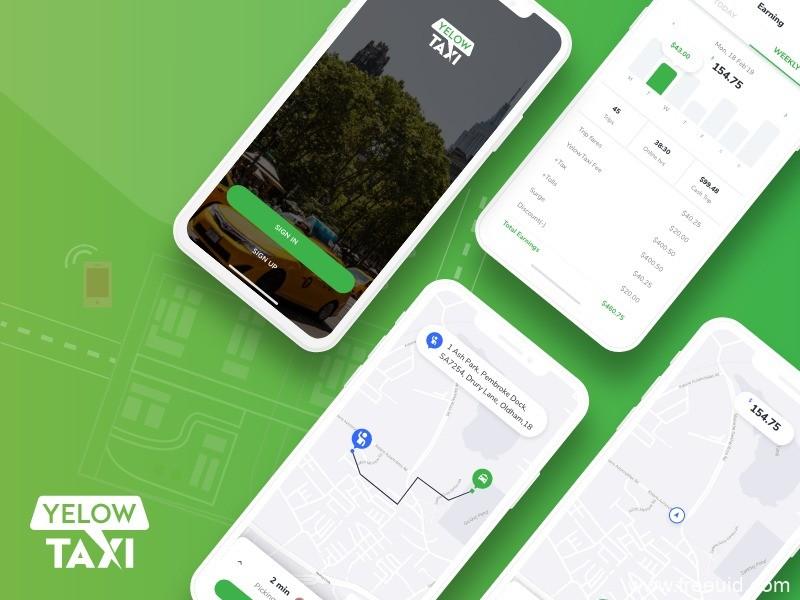 滴滴、Uber类似的成套打车app uikit,UI资源下载