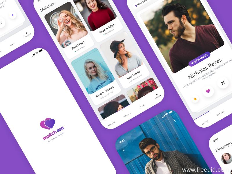 社交约会类app ui Kit源文件 .xd素材下载,UI 资源下载,ui素材下载