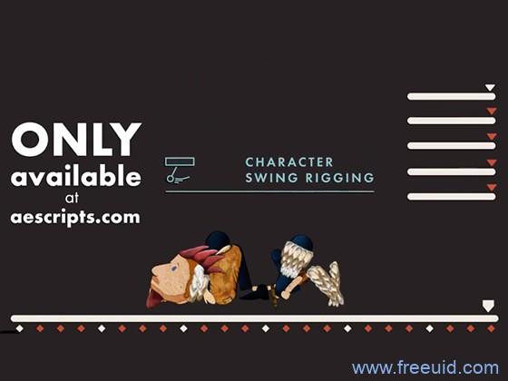 AE脚本-MG卡通人物角色骨骼绑定动画工具Character Swing Rigging v1.5.3+使用教程