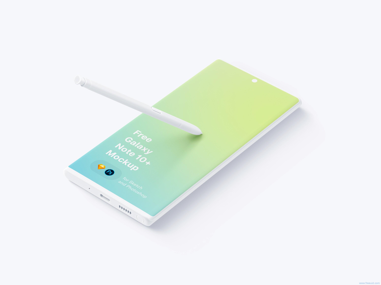 Samsung Galaxy Note 10 Plus Mockup .psd .sketch素材下载