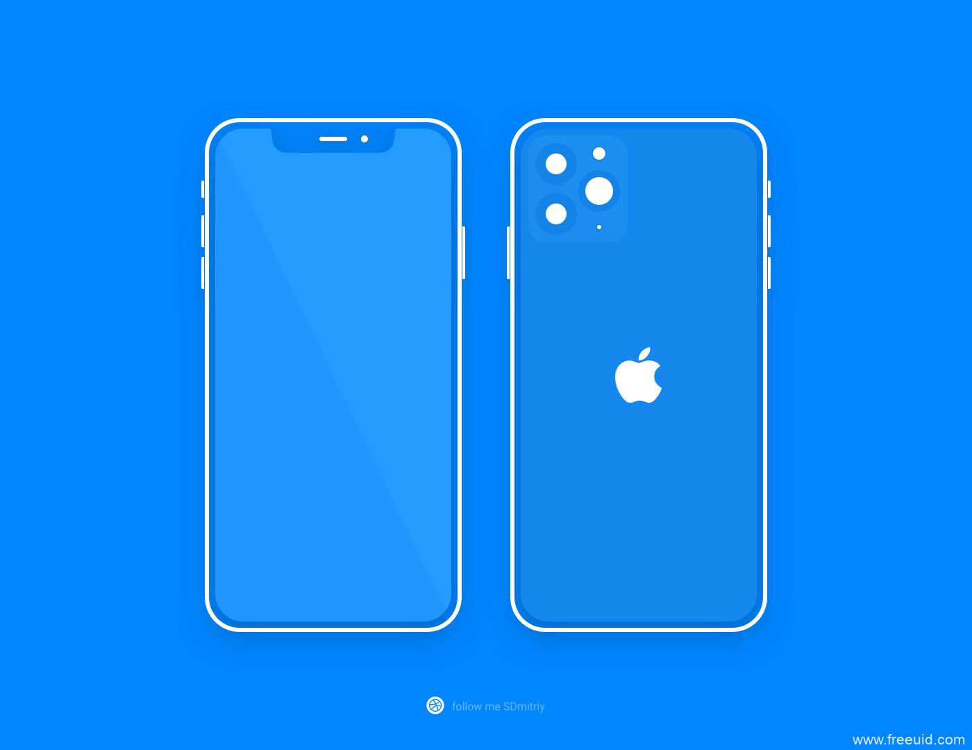 iphone 11 pro 线框图mockup .sketch素材下载
