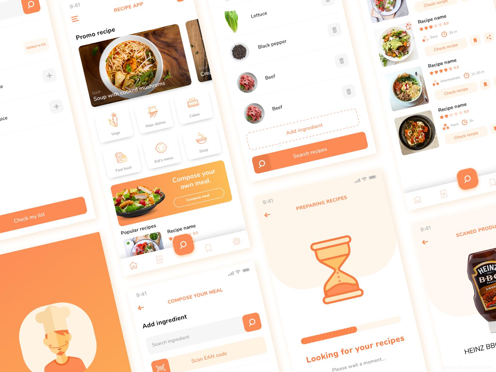 精品生鲜美食类APP UI界面源文件,sketch源文件下载,UI素材下载,UI资源分享