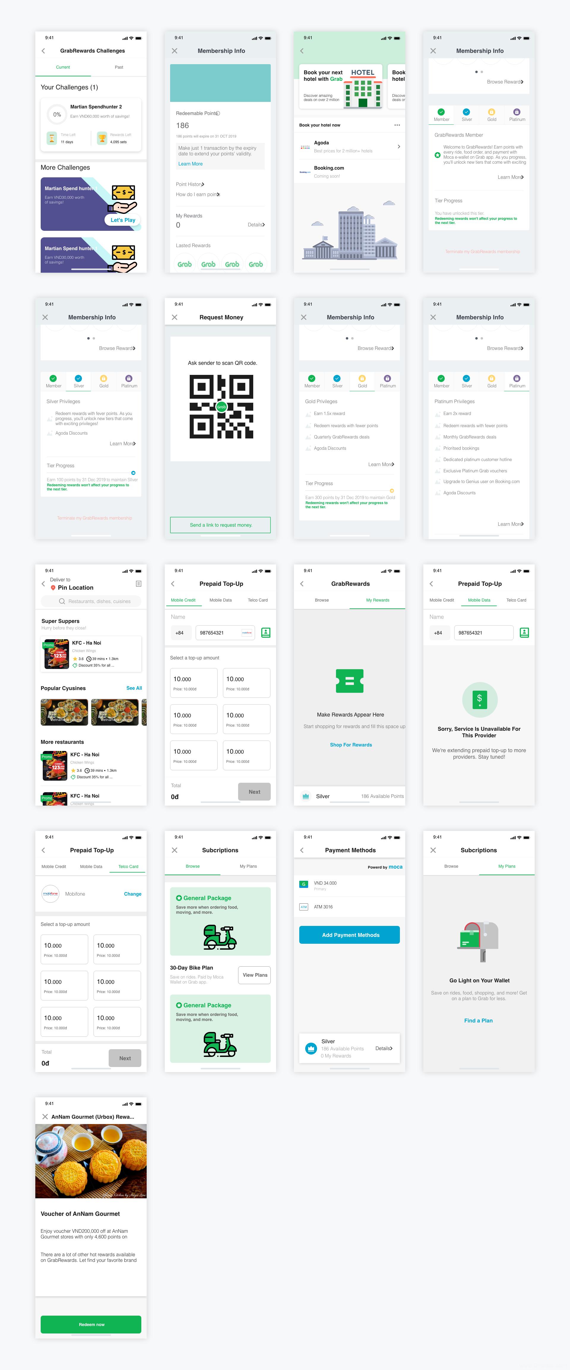 超全整套美食外卖类UI .xd素材下载,UI资源分享,UI素材分享