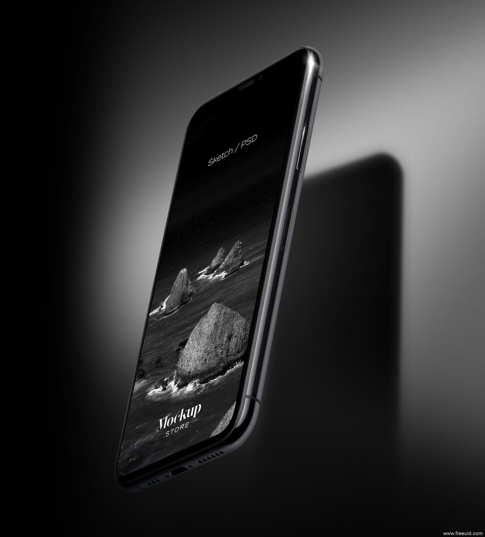 iPhone 11样机模板,作品集包装模板,iPhone mockup