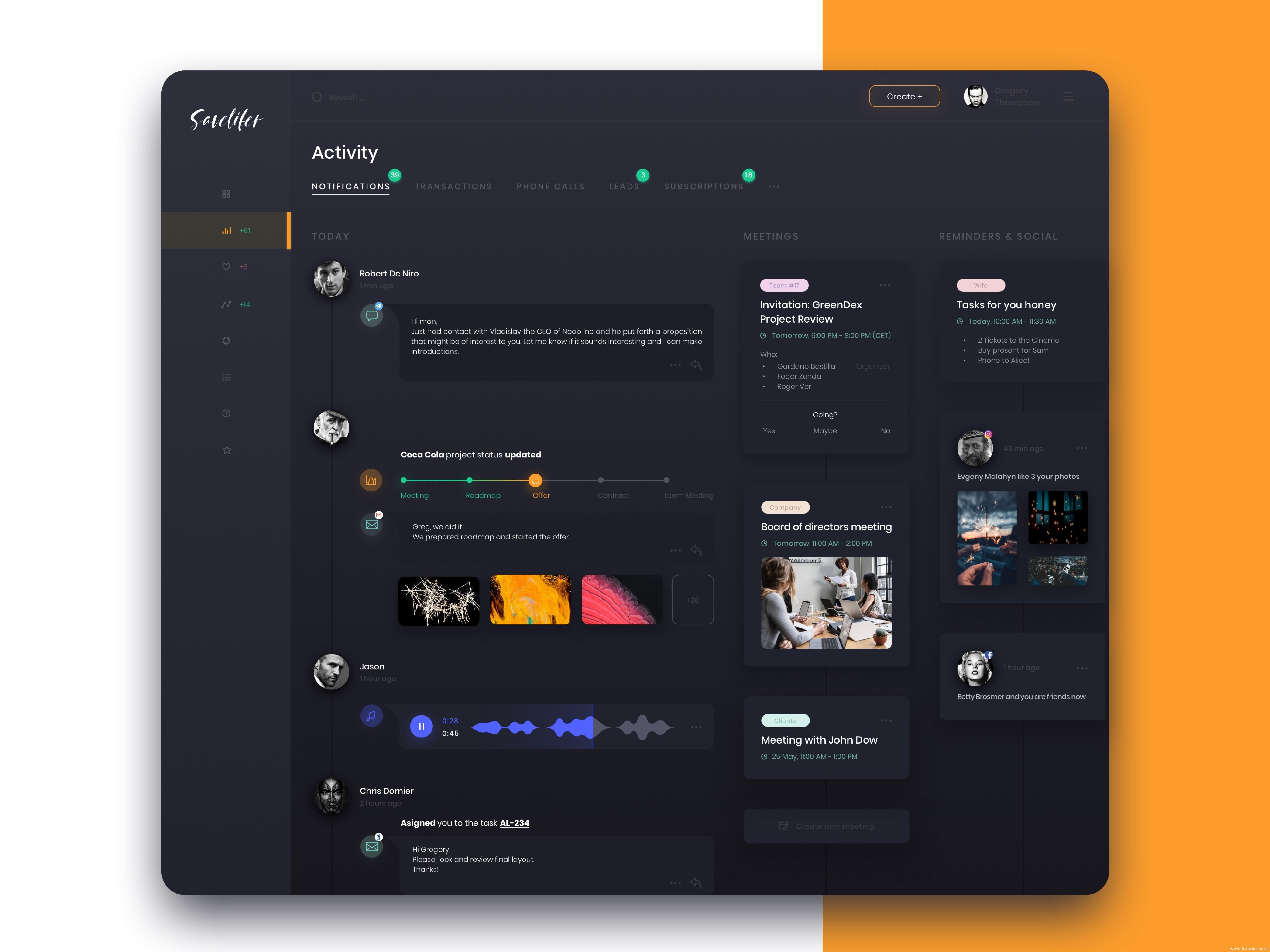 暗色系后台管理界面UI kit,dashboard 后台UI源文件下载