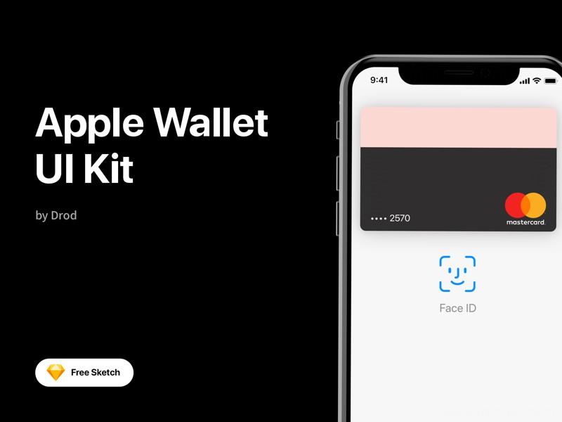 适用于Sketch的Apple Wallet免费UI套件