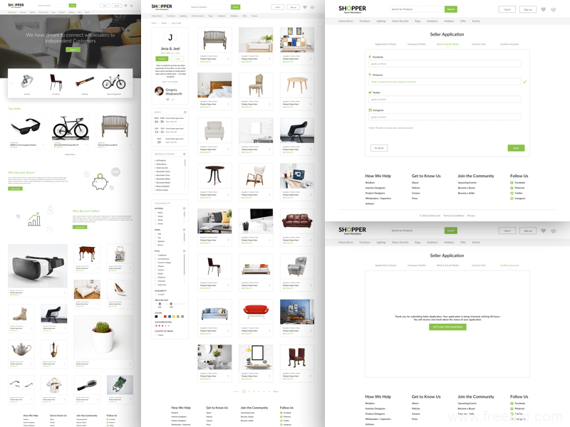 整套高端电商类网站页面UI源文件,sketch源文件