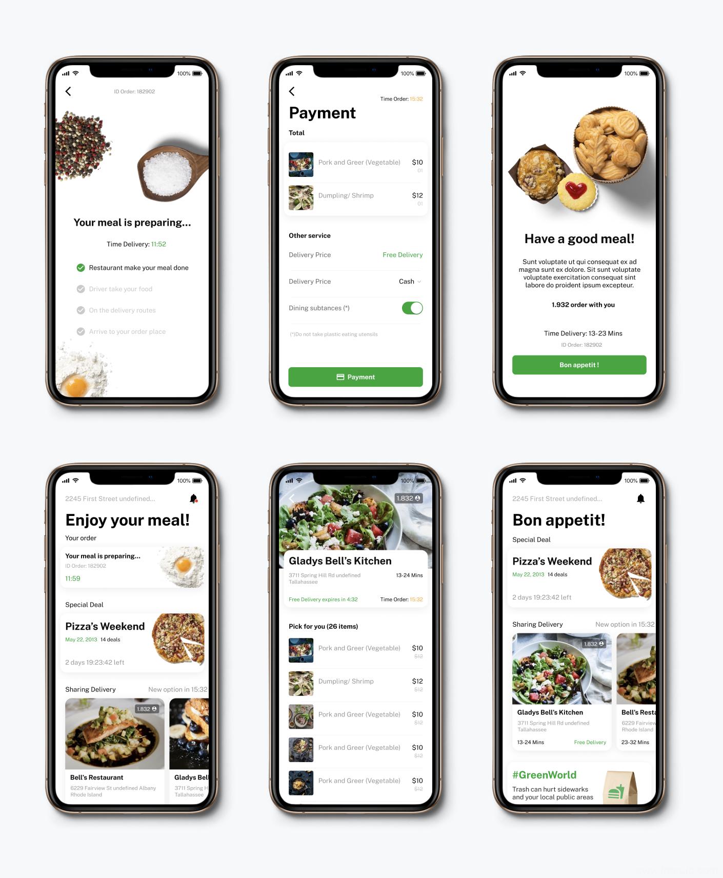 外卖美食类APP UI KIT,美食外卖类APP UI源文件下载,美食app figma原文件下载