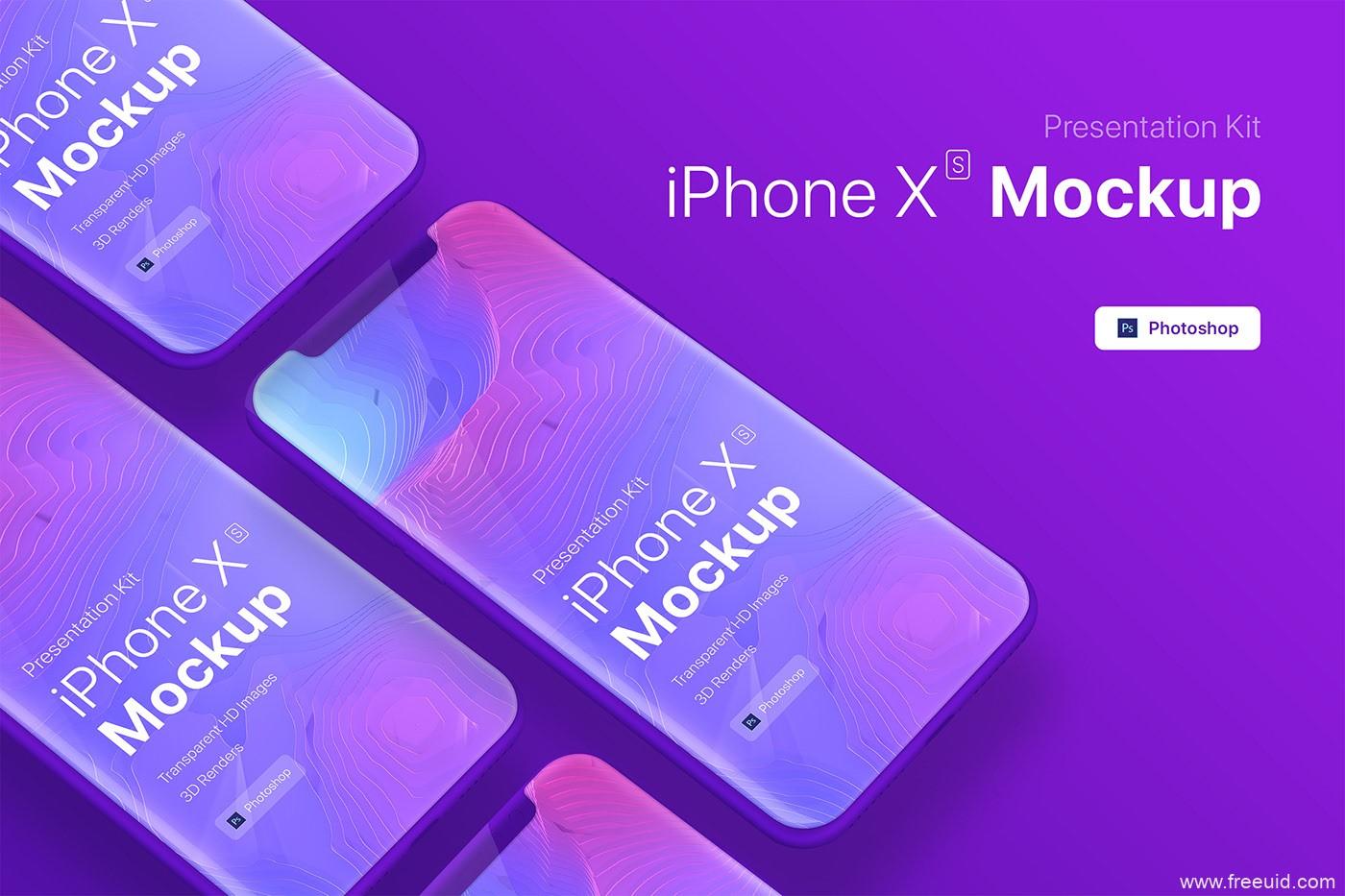 高端iPhone 手机模板样机源文件,iPhone xs样机psd源文件