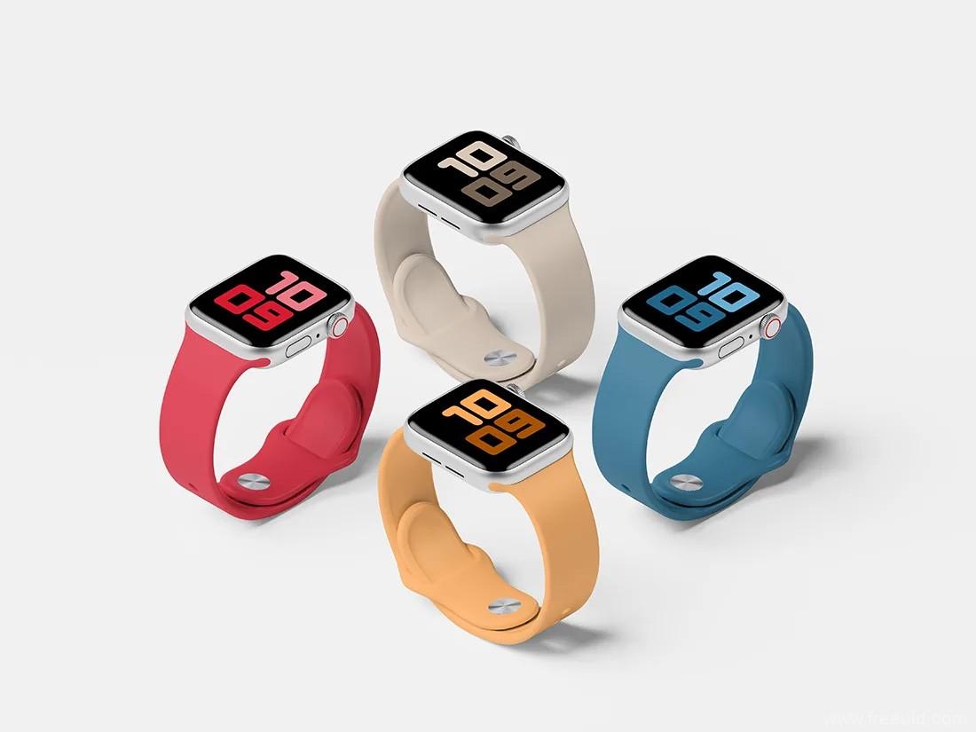 免费Apple Watch样机模板手表样机psd源文件下载
