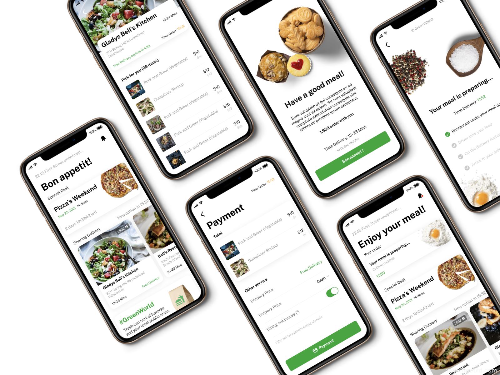 社区团购,买菜app外卖美食类APP UI KIT,美食外卖类APP UI源文件下载,美食app figma原文件下载