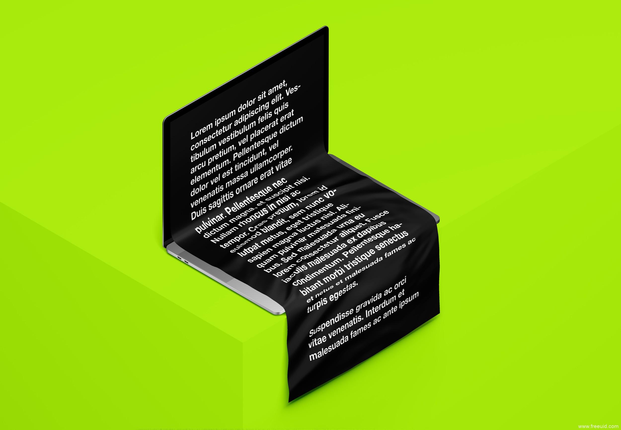 精品!MacBook pro样机模板PSD源文件,网页包装模版psd源文件