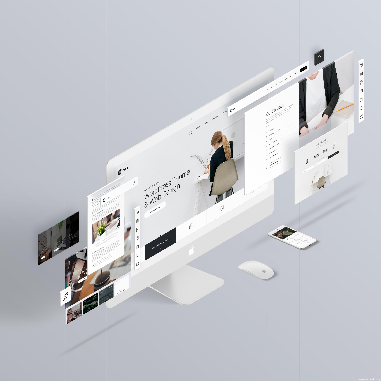 高端作品集包装mockup样机模板,UI样机mockup源文件下载