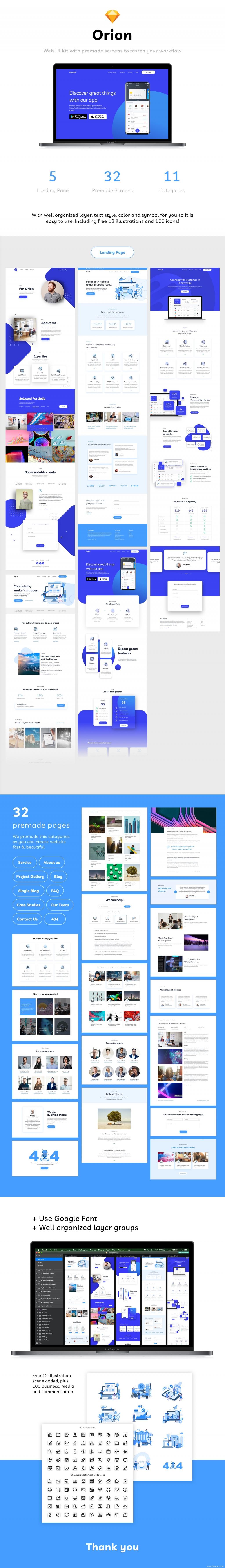高端网页设计模板,商务网站,着陆页模板sketch源文件