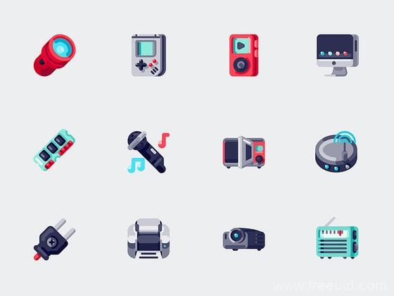 60 枚电子设备元素图标