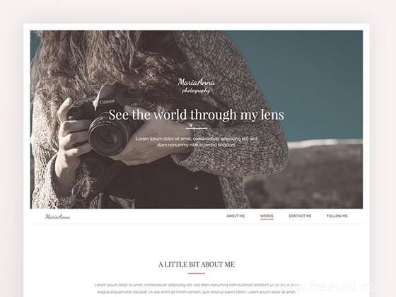 单页摄影模版源文件下载