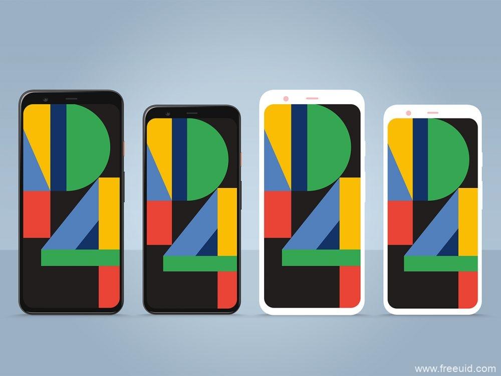 Google Pixel 4 Mockup &Pixel 4 XL Mockup,谷歌pixel 4样机模板psd