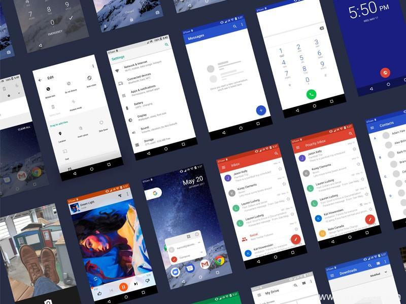 Android UI kit、安卓系统UI组件全套sketch源文件下载
