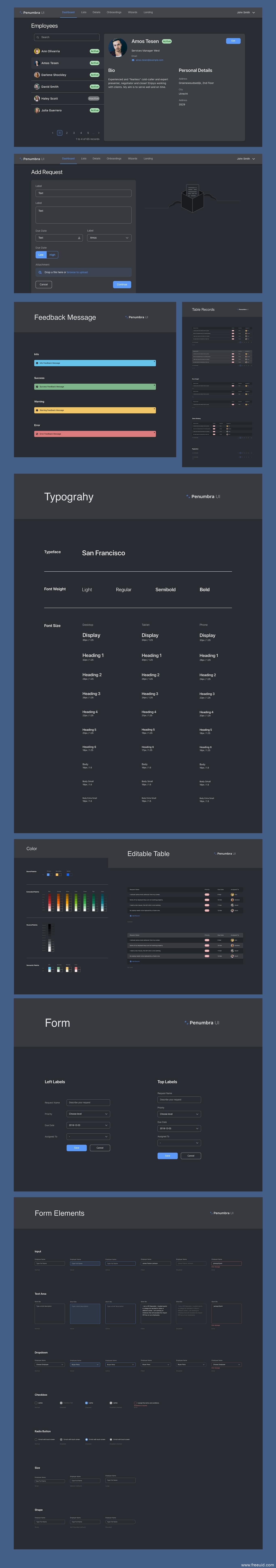 暗黑系超全UI kit含字体(手机端、PC端)sketch源文件下载